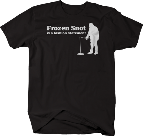 Frozen Snot is a Fashion Statement Ice Fishing Fisherman