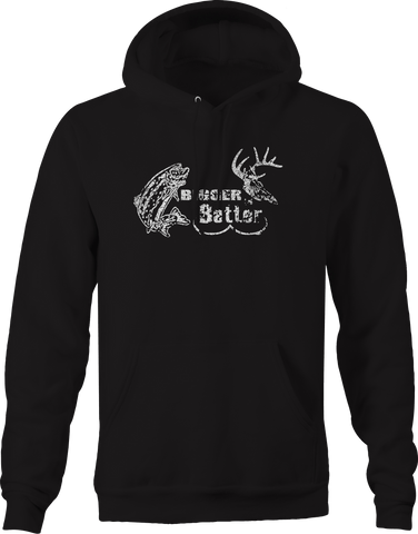 Bigger is Better - Fishing Hunting Boobs Hoodie