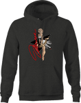 Sexy Marilyn Monroe Hollywood Funny Laughing Skirt Up Black Star Hoodie