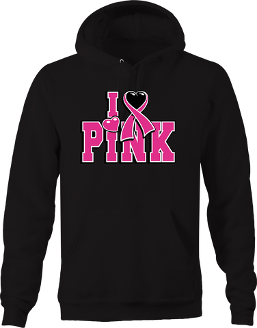 I Love Pink Breast Cancer Awareness Relentless Fighter Family Hoodie