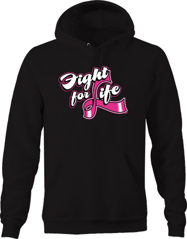 Fight for Life Breast Cancer Awareness Relentless Fighter Cure Hoodie