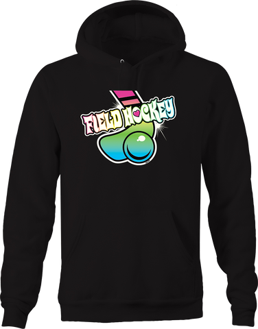 Filed Hockey Sports Athletic Score Goal Stick Colorful Multicolor Hoodie