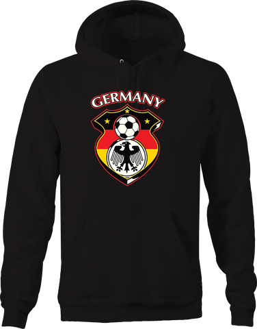 Germany Soccer Emblem Score Goal Field Futbol Sports Athlete Hoodie