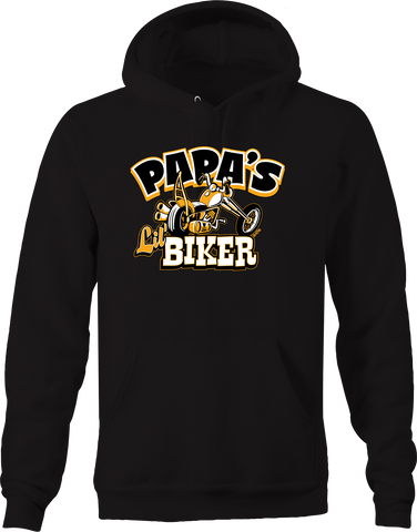 Papa's Lil' Biker Chopper Bike Riding Biker Group Handle Bars Hoodie