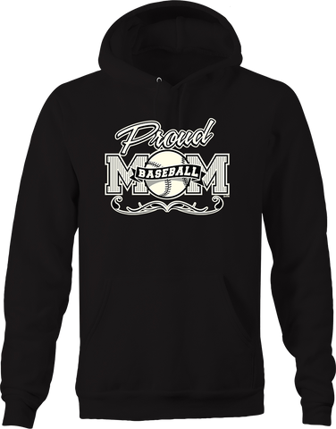 Proud Baseball Mom Jersey Stripes Homerun Grand slam Champion Hoodie