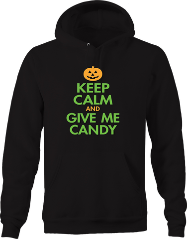 Keep Calm and Give Me Candy Jack O Lantern Trick or Treat Spooky Hoodie