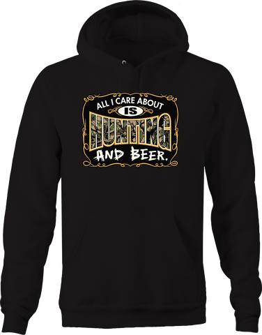 All I Care About is Hunting and Beer Wildlife Nature Drunk Deer Hoodie
