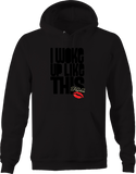 I woke up Like This Flawless Big Red Kissy Lips Sexy Hot Glamour Hoodie