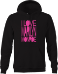 I Love Marilyn Monroe Hot Sexy Actress Model Women Idol Flawless Hoodie
