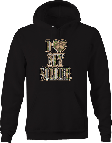 I Love My Solider Camo USA Military Army Marines Navy Air Force Hoodie