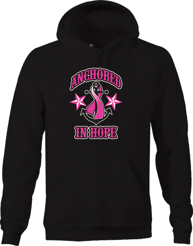 Anchored In Hope Breast Cancer Awareness Star Fighter Relentless Hoodie