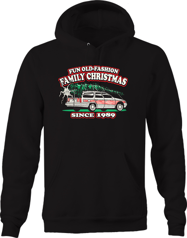 Fun Old Fashioned Family Christmas Since 1989 Holiday Travel Hoodie