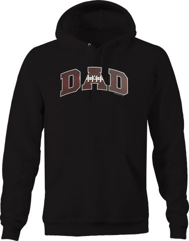 Football Dad Sports Athlete Athletic Touchdown Field Tackle USA Hoodie