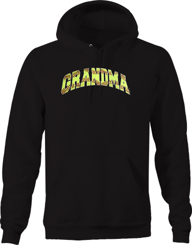 Softball Grandma Sports Athlete Homerun Grand slam Bases Field Hoodie