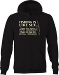 Fishing Like Sex Great it's Greta Bad It's Bad Hooked Big Catch Hoodie
