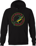 Deep Water Adventure Sword Fish Palm Trees Ocean Water Fishing Hoodie