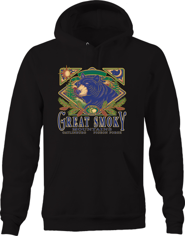 Great Smoky Mountains Gatlinburg Pigeon Forge Black Bear Nature Hoodie