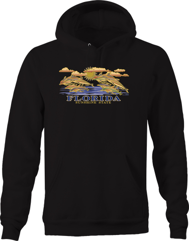 Florida Sunshine State Dolphins Jumping Out of Water USA Wildlife Hoodie