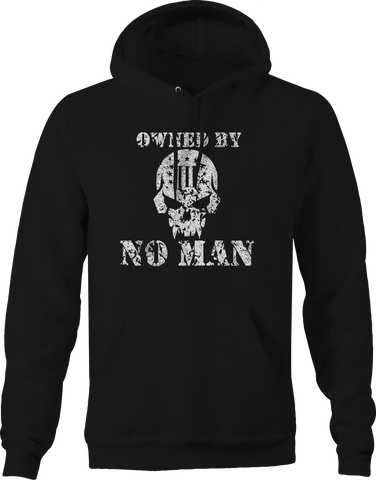 Owned By No Man Skull 3% Independence Military  Hoodie