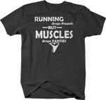 Running Drops Pounds Muscles Panties Funny Workout Gym