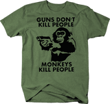 Guns Don't Kill People Monkeys Chimp with Pistol