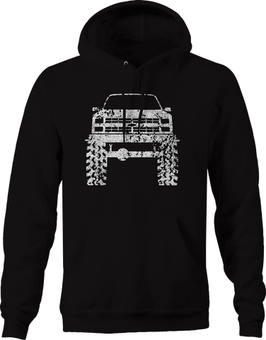 1980's 90's K5 Blazer Lifted Mud Tires Truck Hoodie