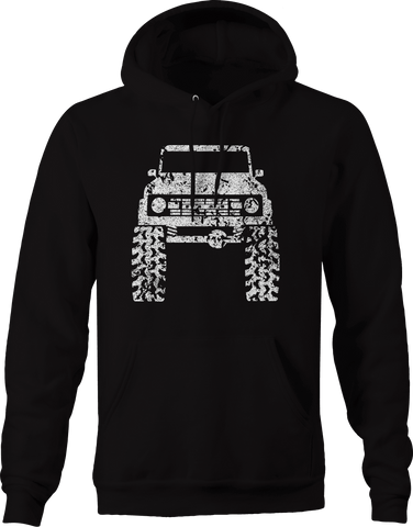 1960's 70's Off Road Lifted Mud Tires Truck  Hoodie