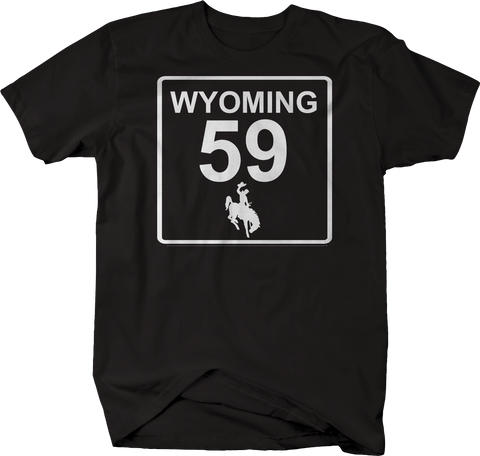 Wyoming State Route Highway 59 Cowboy Scenic Road Sign