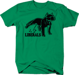 Pitbull Pee on Liberals Bull Breed Political Funny Conservative