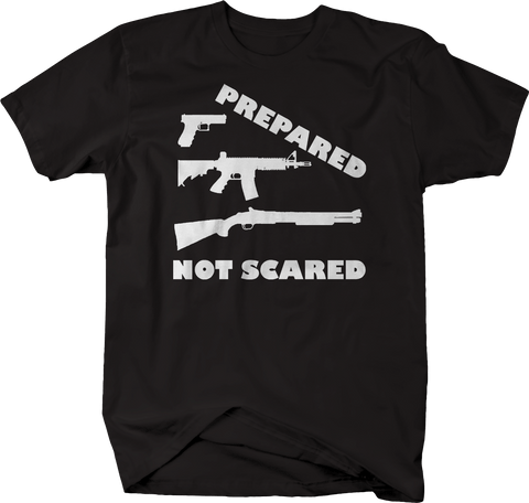 Prepared Not Scared Pistol Rifle Shotgun Prepper 3% Biker