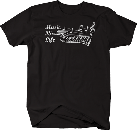 Music IS Life Piano Keys with Notes and Chords