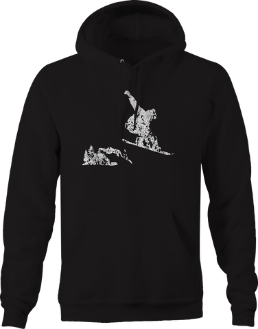 Snowboarding Jump and Grab Ski Mountain Winter Sports  Hoodie