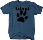 Adopt - Dog Lover Paw Print Rescue