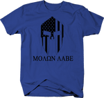 Molon Labe Spartan Warrior American Flag NRA Gun Rights