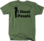 I Shoot People Standing Photographer Digital Film Camera
