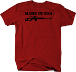 MADE IN USA Military Stamp Design with Sniper Rifle