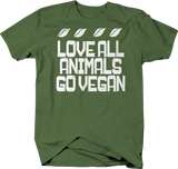 Love All Animals Go Vegan Vegetarian Diet Lifestyle