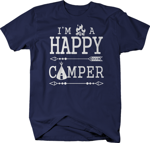 I'm a Happy Camper Campfire Tent Travel Camping Outdoors Vacation