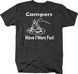 Campers Have S'more Fun Camping Travel Trailer Campfire