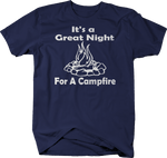 Great Night for a Campfire Camping Camper RV Travel Vacation
