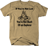 If You're Not Lost Explorer Campfire Camping Outdoors