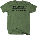 The Journey is the Destination Arrow Travel Adventure Quote