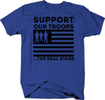 SUPPORT OUR TROOPS The Real Stars Army Military Patriotic