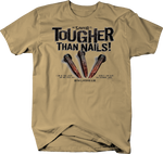 """Savior"" Tougher Than Nails Revelation 1:18 Bible Scrip Religion T-Shirt"