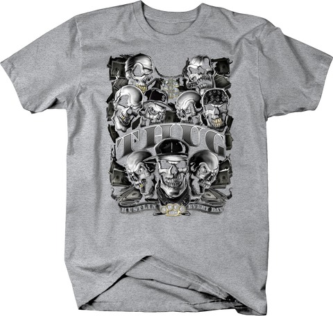 Skull Thugs Hustlin' Every Day Cash Money Brass Knucles Shirt