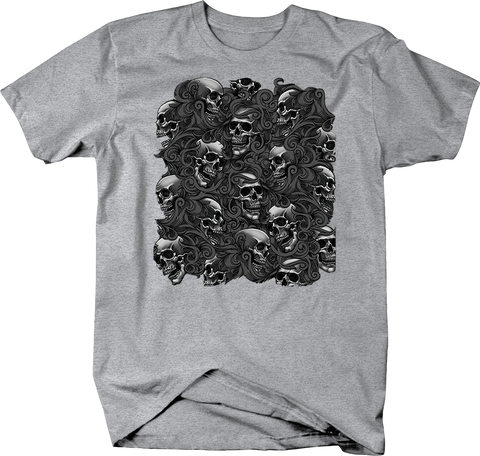 Skulls Grouped Together in Smoke Shirt