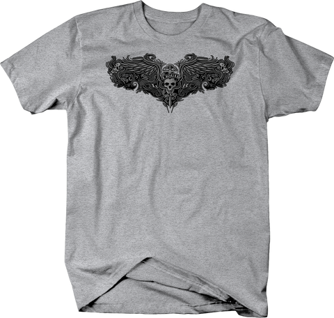 Sword Through Skull Liquid Blue Shirt With Angel Wings Shirt