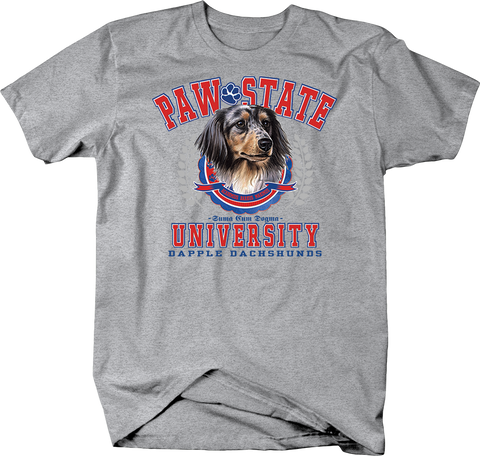 Paw State University Dapple Dachshunds Dog Shirt
