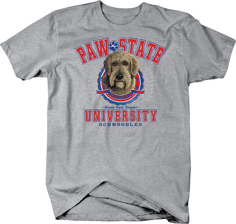 Paw State University Schnoodles Dog Shirt
