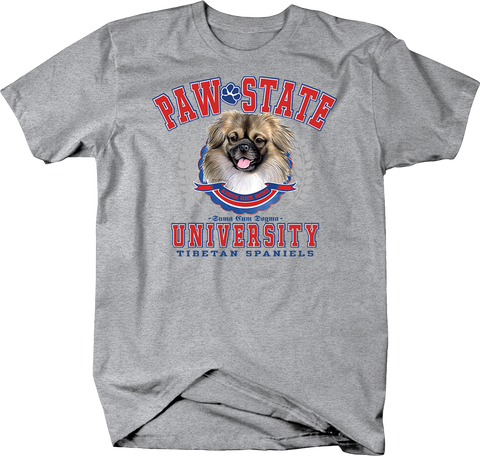 Paw State University Tibetan Spaniels Dog Shirt